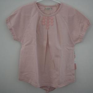 La poche biscuit(ラポシェビスキュイ) スカーフ切り替え半袖Tシャツ