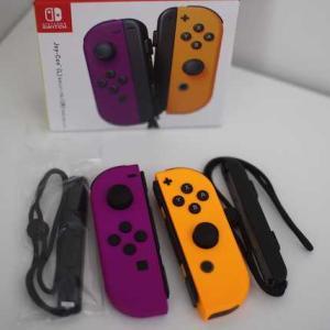 【Switch】ジョイコン ネオンパープル / ネオンオレンジ