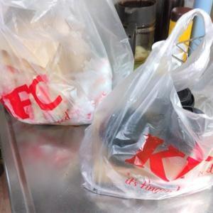 """ウチ食べしま専科:王子駅東口の『KFC』で買出し。""""ツイスター(ペッパーマヨ)のポテト・コーヒーセット""""に""""オリジナルチキン(リブ)""""を頂いて大満足でした!"""
