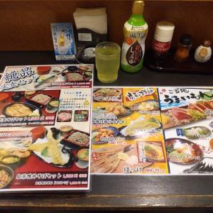 |M1667|掛川駅ビル内『ふじの坊喜膳』で一人夕食会。イタリアンレモンサワーとおつまみで開始し、温つけ鴨せいろそば(天ぷら盛合せ付き)で大満足!〔付:おそばは15分前後・・〕