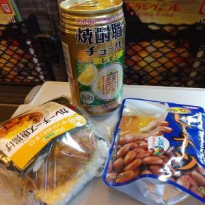 福島駅新幹線改札内『New Days』で仕込んだランチは、サンドおむすび(カレーチーズ唐揚げ)に絞ったつもりがずしんと来ました!