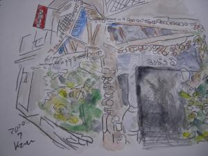 定年後オッサンのスケッチ散歩(12)神田古本屋街風景