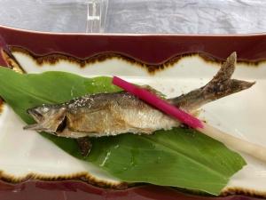 神奈川県中津川の鮎を食べる