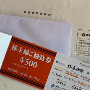 クロス取引分【優待到着】東和フードサービス(3329)