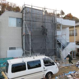 仙台市太白区越路アパート『大規模改修リフォーム』が続きます。
