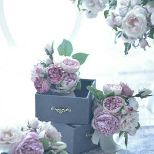 花と箱 レッスンにて