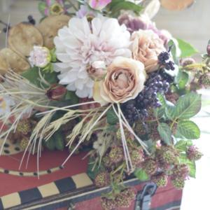 トランクとお花