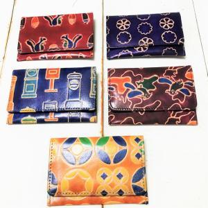 秋らしいモチーフがかわいい 山羊革の財布
