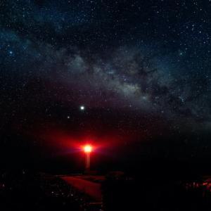 7月 東平安名崎灯台と天の川