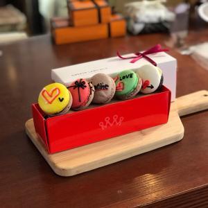 2019年バレンタイン広島県福山市バレンタイン限定チョコレートを使ったマカロン