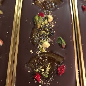 2019年広島県福山市のバレンタインチョコレート「ピスタチオと木苺のタブレットチョコレート】