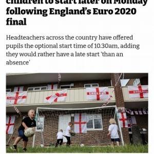 決勝楽しめないイングランド人、EURO2020