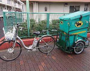 自転車で操る宅配のスタイル