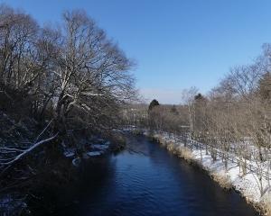 おはよう橋から千歳川(定点観察)2020/01/18