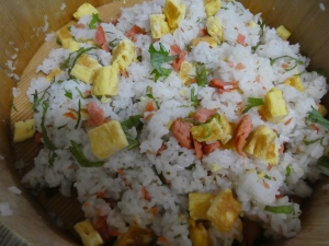 我が家の晩御飯~変わりちらし寿司~