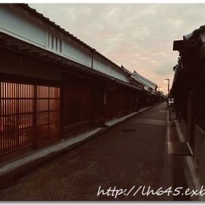 週末の夕刻、久しぶりに今井町をプチ散歩