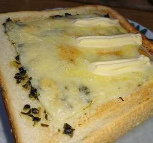 ☆バジルチーズトースト\( ̄▽ ̄o)