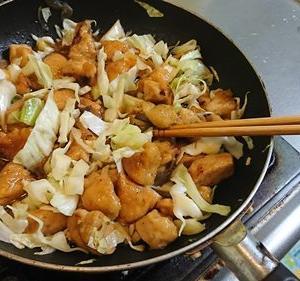 キャベツと鶏のさっぱり焼き(⌒o⌒)ゞ