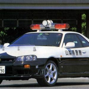 懐かしのパトカーネタ R34 25GT-T 白黒パトカー 山梨県警