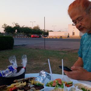 2019/5/1 野外でディナー
