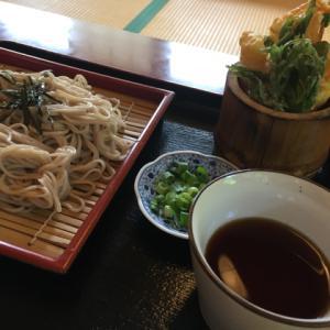 お昼は葛そばと天ぷら