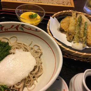 天竜そばで季節天ぷら膳