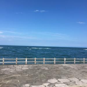 太平洋遠くに伊豆半島