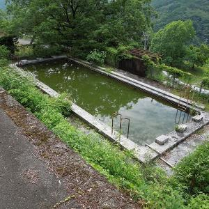 大洲学園のプール跡 大洲家族旅行村キャンプ場 2021