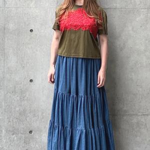 LaPremiere<Luxury・リバーレース・Tシャツ&デニム・マキシスカート>