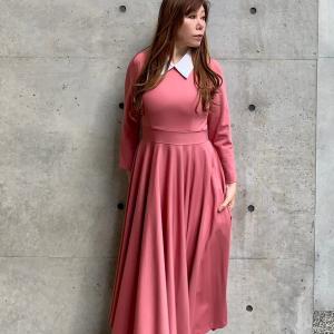 RosePremiere〈白襟・ポンチ・ミモレワンピース〉