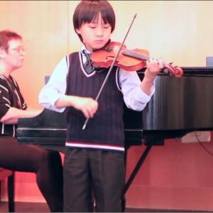 春のバイオリンリサイタル終了♪(9歳と6歳の演奏)