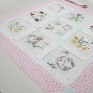 リボン刺繍キルトボーダー