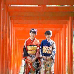 姉妹で撮る振袖前撮りロケーション撮影 和歌山県