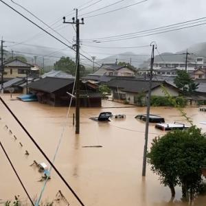 熊本・鹿児島で50年に一度の豪雨 天草市で1時間98ミリ、3時間で205.5ミリの猛烈な雨