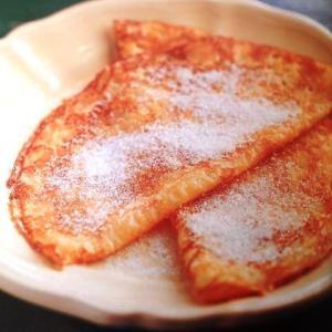 バターと砂糖だけで焼き上げたクレープ…・
