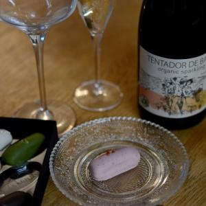 和菓子結とスパークリングワイン