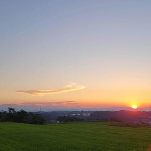 夕景と星空 @福島県石川町