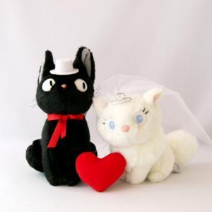 ウェルカムキャット 魔女の宅急便 黒猫ジジ&白猫リリー ぬいぐるみ