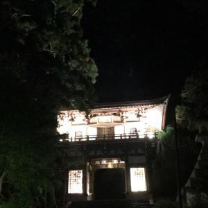 大山・和傘灯り