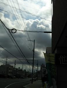 雨が降りそうな雲が出ていますが