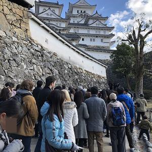 30分待ちだった元旦の姫路城