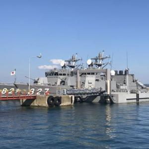 ミサイル艇「くまたか」「わかたか」の母港訪問