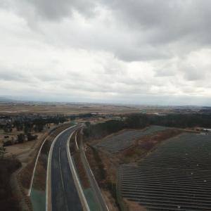 一年ぶりに高速道路工事を空撮4