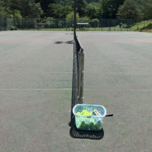 今年初のテニス