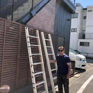 新会堂建設再開〜ロフトの梯子つくり
