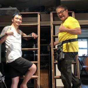 教会住み込み生活スペースのロフトへの梯子ができました!