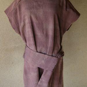 羽織からチュニック(ベルト付き)  <すゑさんの着物リメイク…その52>