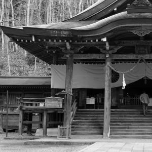 モノクロ・戸隠神社中社。平成30年を振り返って。