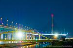 深夜のかつしかハーブ橋(東京都葛飾区東四つ木)