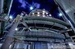 首都高東池袋インターとサンシャイン60夜景【HDRi】(東京都豊島区東池袋)